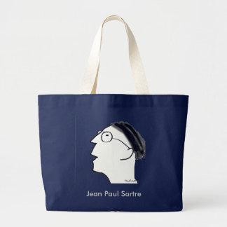 Retrato de un existencialista bolsa tela grande