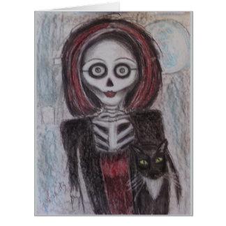Retrato de un fantasma, Halloween Tarjeta De Felicitación Grande