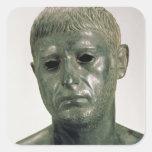 Retrato de un guerrero romano desconocido, ANUNCIO Pegatina Cuadrada