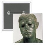Retrato de un guerrero romano desconocido, ANUNCIO Pin Cuadrado