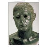 Retrato de un guerrero romano desconocido, ANUNCIO Tarjeta De Felicitación