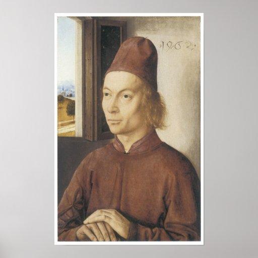 Retrato de un hombre, 1462 poster