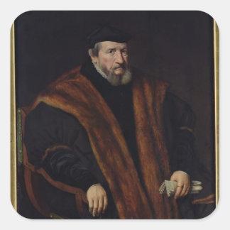 Retrato de un hombre, 1564 calcomanías cuadradass personalizadas