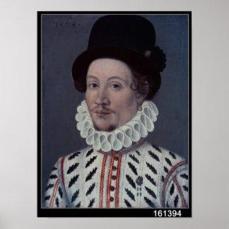 Retrato de un hombre, 1575 póster