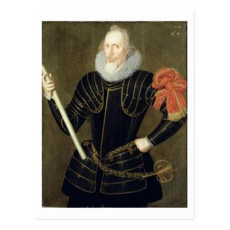 Retrato de un hombre, 1593 (aceite en el panel) postal