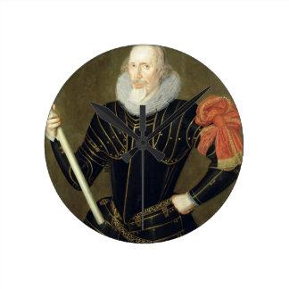 Retrato de un hombre, 1593 (aceite en el panel) reloj