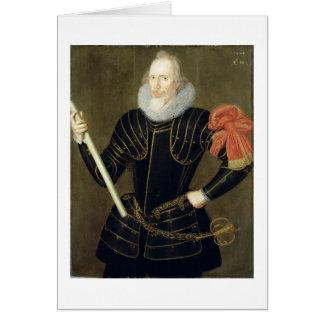 Retrato de un hombre, 1593 (aceite en el panel) tarjeta de felicitación