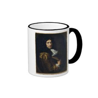 Retrato de un hombre 2 tazas de café