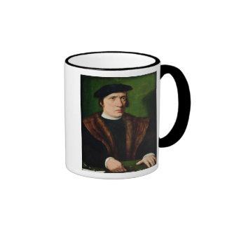 Retrato de un hombre 2 taza de café