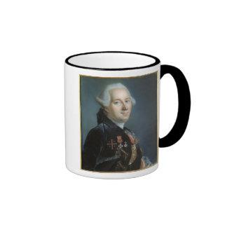 Retrato de un hombre 4 taza de café
