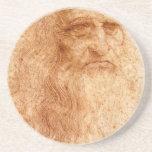 Retrato de un hombre barbudo posavasos cerveza