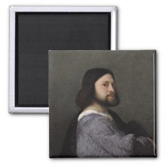 Retrato de un hombre, c.1512 imán cuadrado