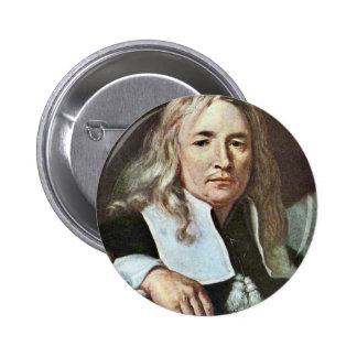¿Retrato de un hombre con el pelo rubio largo cerc Pin