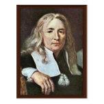 ¿Retrato de un hombre con el pelo rubio largo cerc Tarjeta Postal