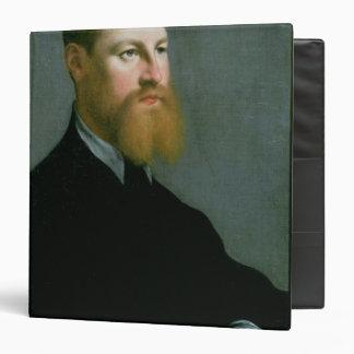"""Retrato de un hombre con una barba del jengibre carpeta 1 1/2"""""""