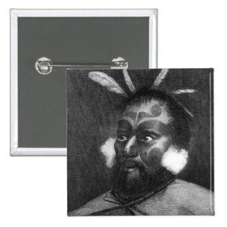 Retrato de un hombre de Nueva Zelanda Pin