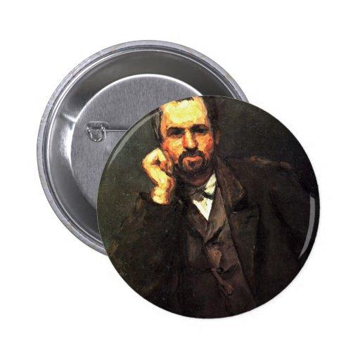 Retrato de un hombre de Paul Cézanne (la mejor cal Pin Redondo 5 Cm