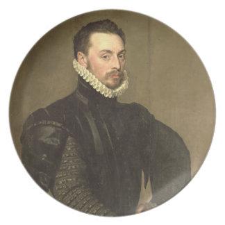 Retrato de un hombre del Retinue de Gra cardinal Platos