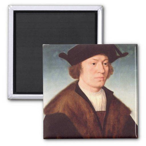Retrato de un hombre desconocido, 1520 (aceite en  imán de frigorifico
