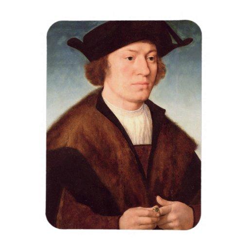 Retrato de un hombre desconocido, 1520 (aceite en  iman de vinilo