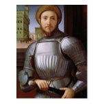 Retrato de un hombre en armadura postal