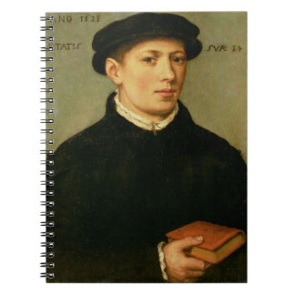 Retrato de un hombre joven, 1528 libro de apuntes