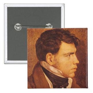 Retrato de un hombre joven 2 pin cuadrado