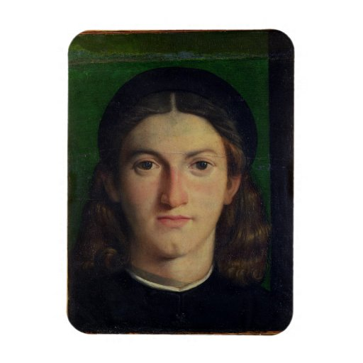 Retrato de un hombre joven, c.1505 (aceite en el p iman rectangular
