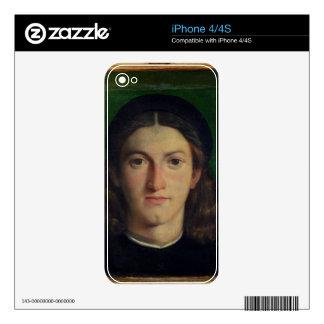Retrato de un hombre joven, c.1505 (aceite en el p skins para eliPhone 4S