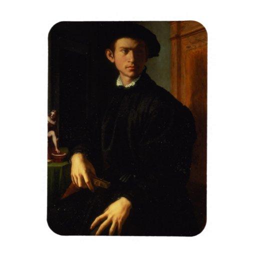 Retrato de un hombre joven, c.1532-40 (aceite en e imanes