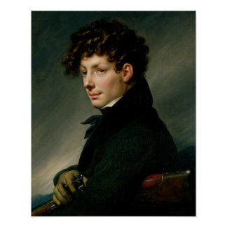 Retrato de un hombre joven como cazador, 1811 póster