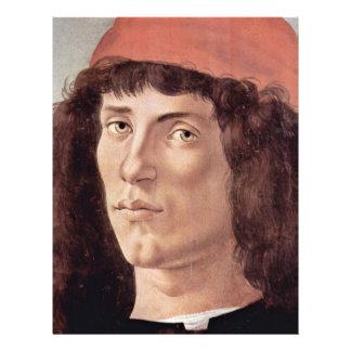 """Retrato de un hombre joven con el casquillo rojo folleto 8.5"""" x 11"""""""