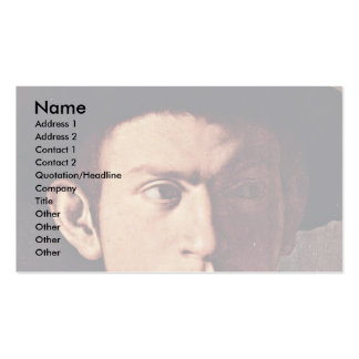 Retrato de un hombre joven con el detalle del laúd plantillas de tarjetas personales