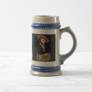Retrato de un hombre joven con una boina por Crana Tazas De Café