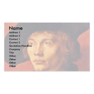Retrato de un hombre joven de Albrecht Dürer Tarjeta De Visita
