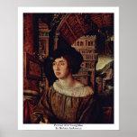 Retrato de un hombre joven de Holbein Ambrosius Impresiones