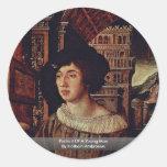 Retrato de un hombre joven de Holbein Ambrosius Etiqueta