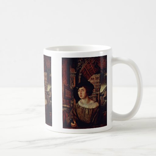 Retrato de un hombre joven de Holbein Ambrosius Tazas