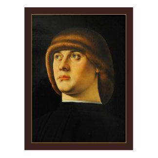 Retrato de un hombre joven de Jacometto Veneziano Tarjetas Postales