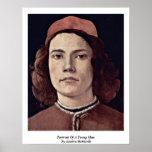 Retrato de un hombre joven de Sandro Botticelli Posters