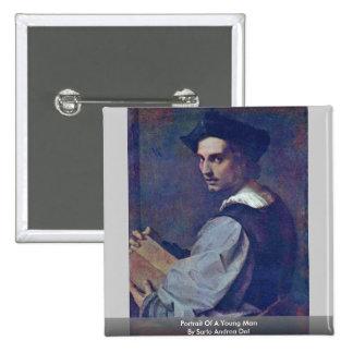 Retrato de un hombre joven de Sarto Andrea Del Pin