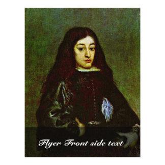 "Retrato de un hombre joven de un Don Juan José De  Folleto 8.5"" X 11"""