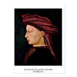 Retrato de un hombre joven en perfil por Masaccio Postales