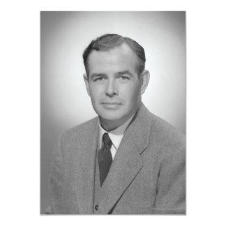 Retrato de un hombre joven invitación 12,7 x 17,8 cm