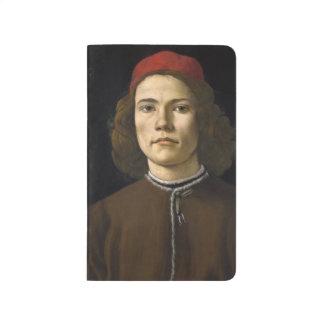 Retrato de un hombre joven por Botticelli Cuaderno