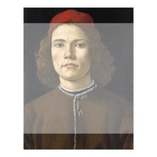 """Retrato de un hombre joven por Botticelli Folleto 8.5"""" X 11"""""""