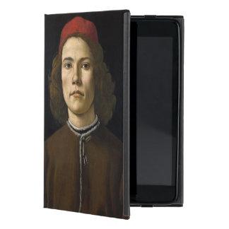 Retrato de un hombre joven por Botticelli iPad Mini Coberturas