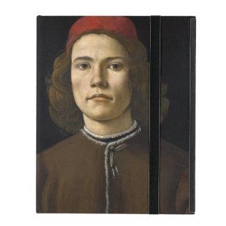 Retrato de un hombre joven por Botticelli iPad Coberturas