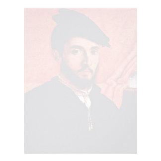 Retrato de un hombre joven por la loteria Lorenzo Plantilla De Membrete