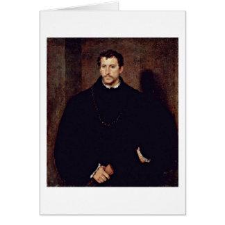 Retrato de un hombre joven por Titian Tarjeta De Felicitación